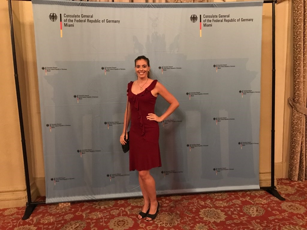 Melanie Goergmaier at the event of Consulate General of the Federal Republic pf Germany